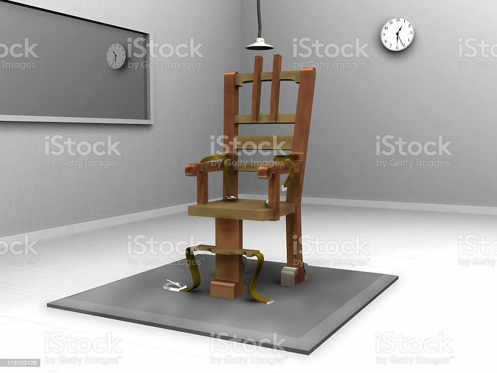 Electric Chair Room (3D) royalty-free stock photo