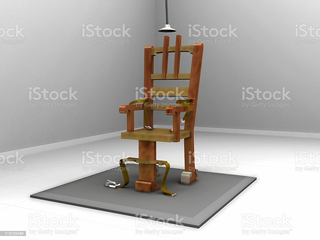 Electric Chair Sterile stock photo