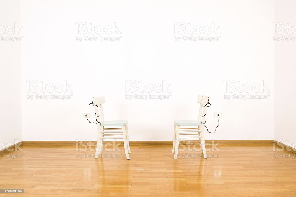 Electric chairs stock photo