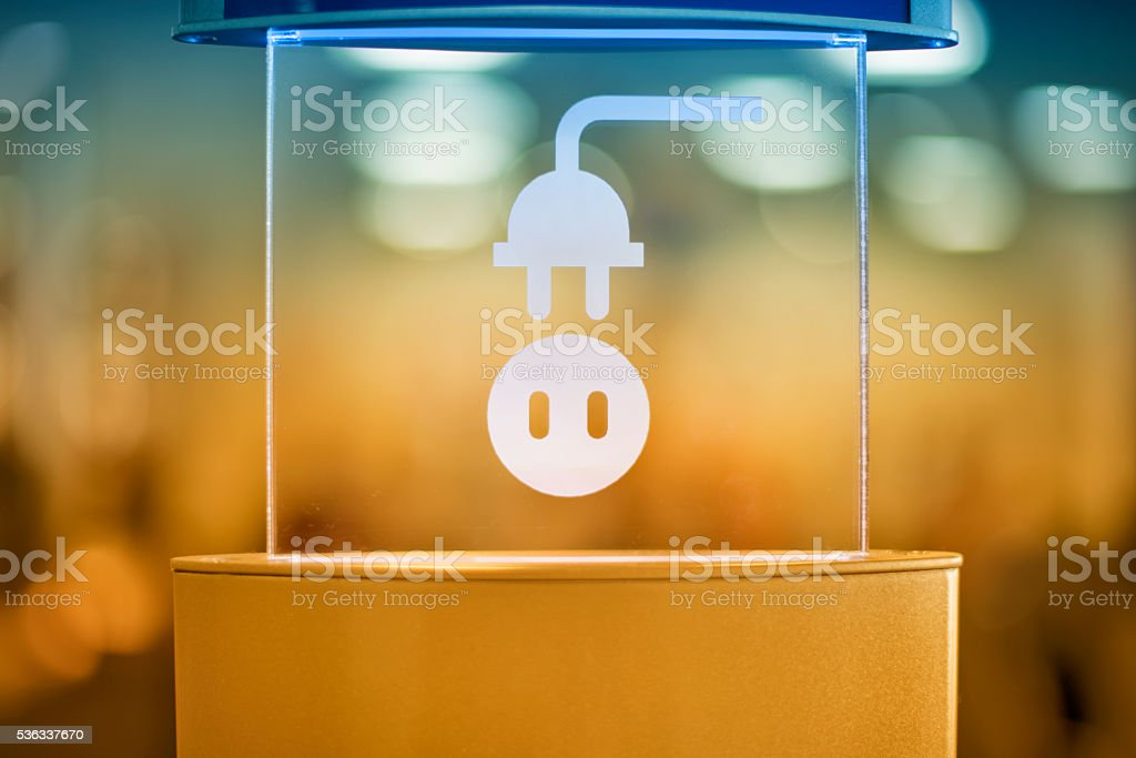 Electric Charging Station stock photo