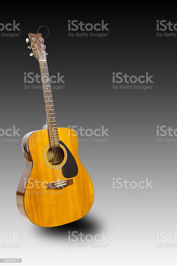 Electric classic guitar with clipping path stock photo