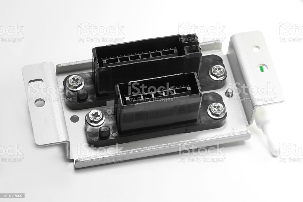 Electric connector, signal connector with bracket stock photo