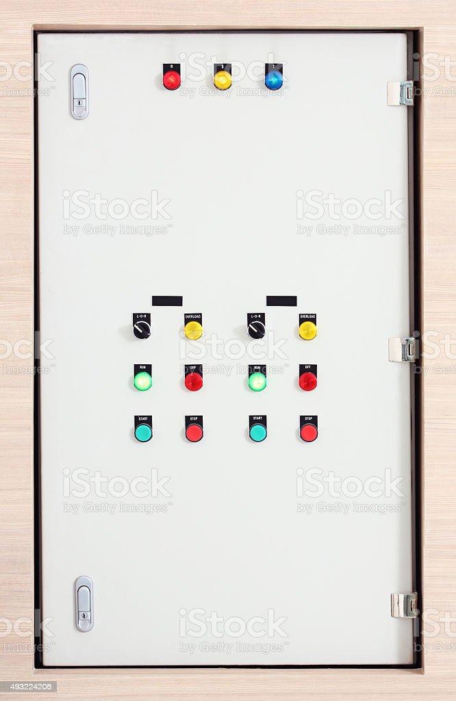 Electric control box stock photo