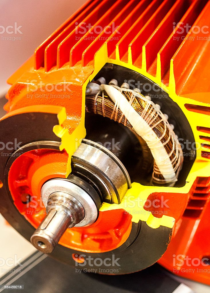 Electric, cross-section stock photo