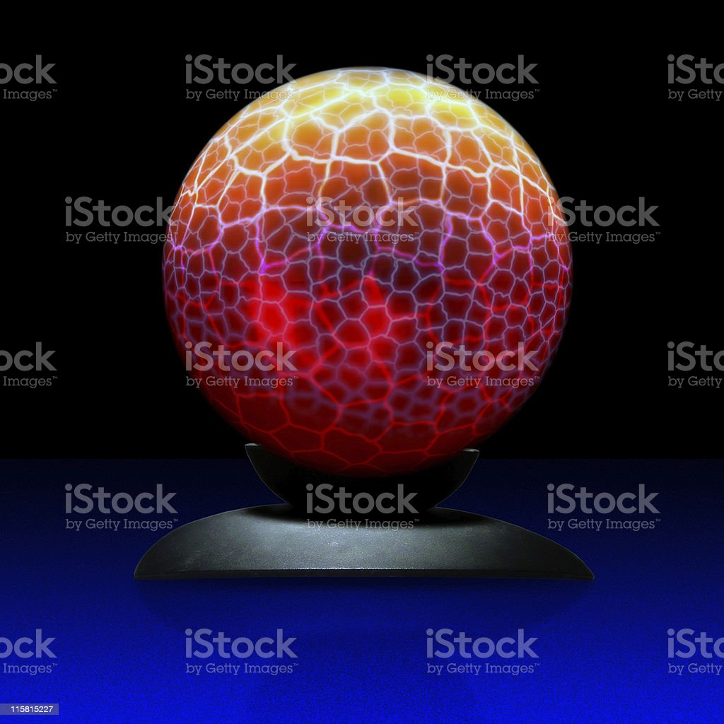 electric crystal ball royalty-free stock photo