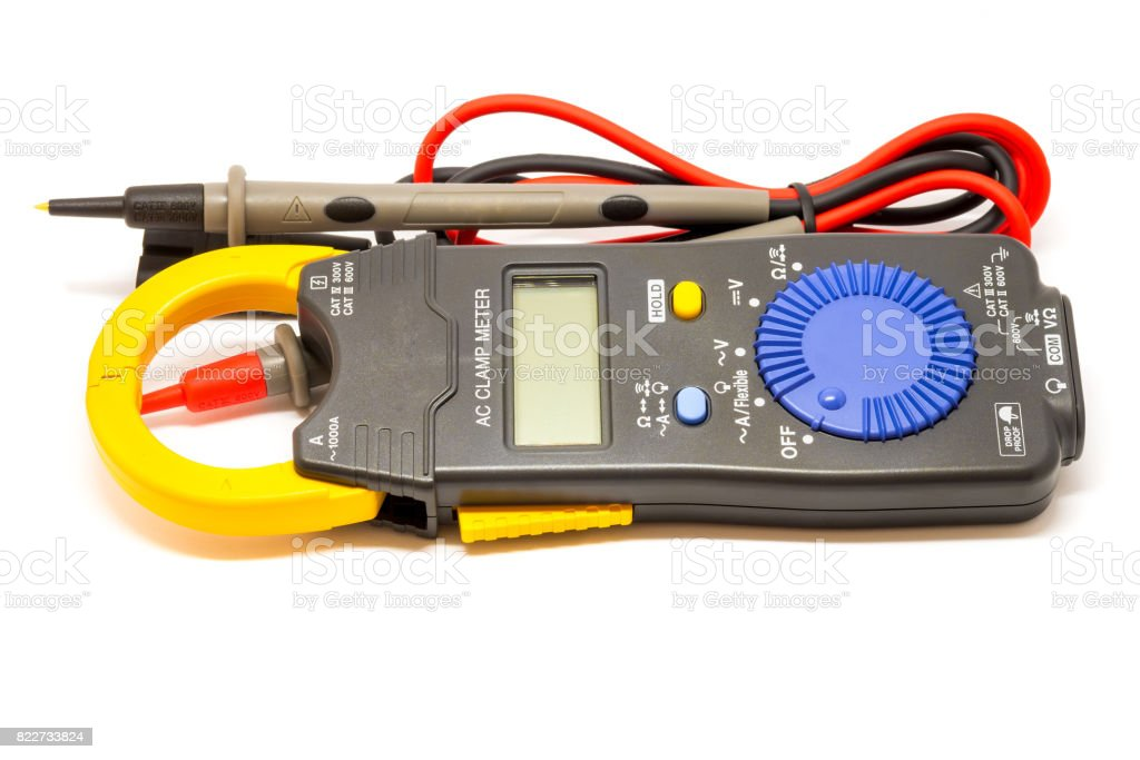 Electric  digital multimeter. stock photo