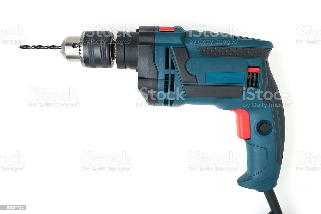 electric drill stock photo