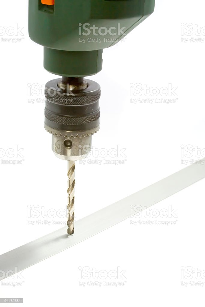 Electric drill royalty-free stock photo