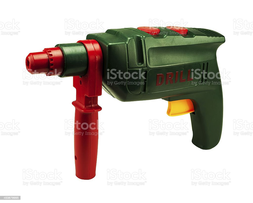 Electric drill toy royalty-free stock photo