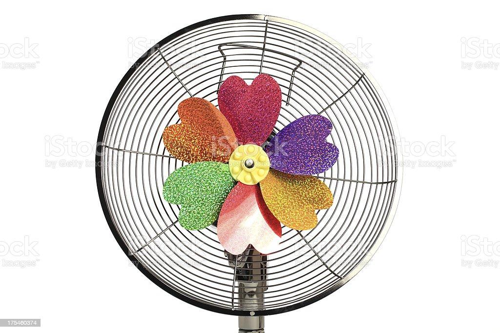 Electric Fan Pinwheel stock photo