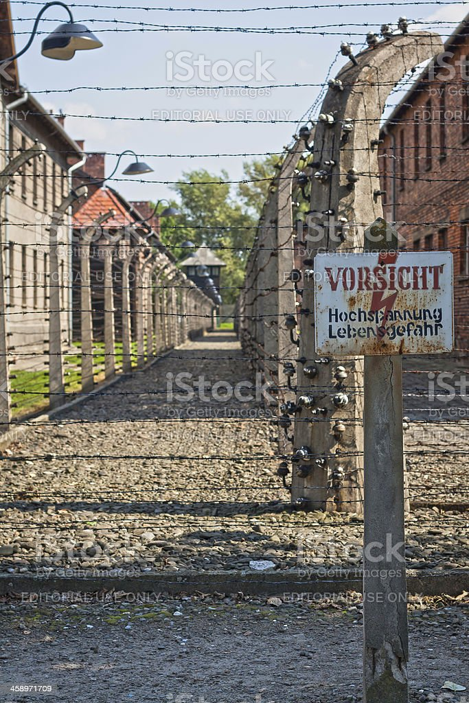 Electric Fence, Auschwitz, Poland royalty-free stock photo