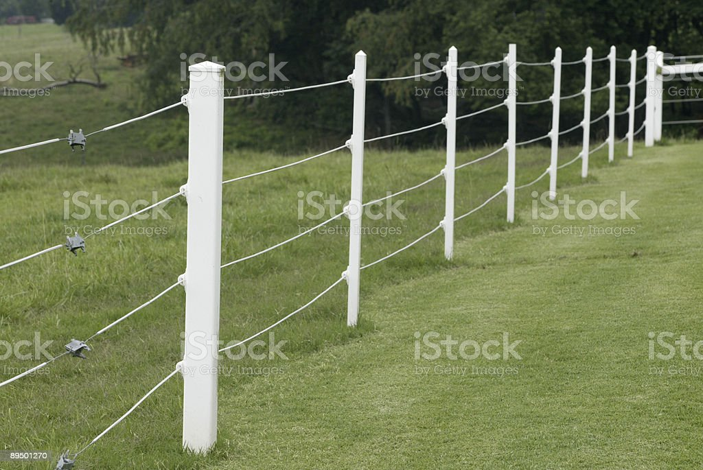Electric Fence stock photo