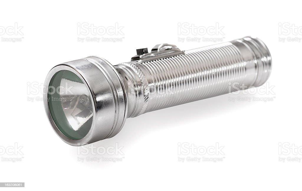 Electric flashlight royalty-free stock photo