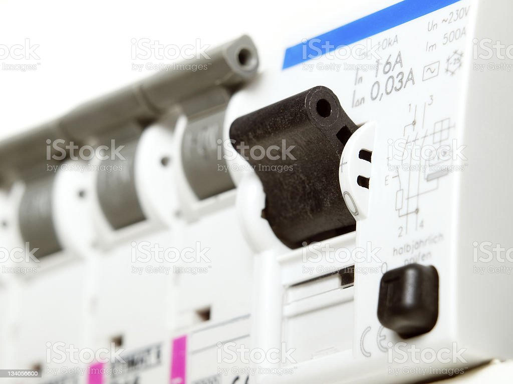 Electric fuses royalty-free stock photo