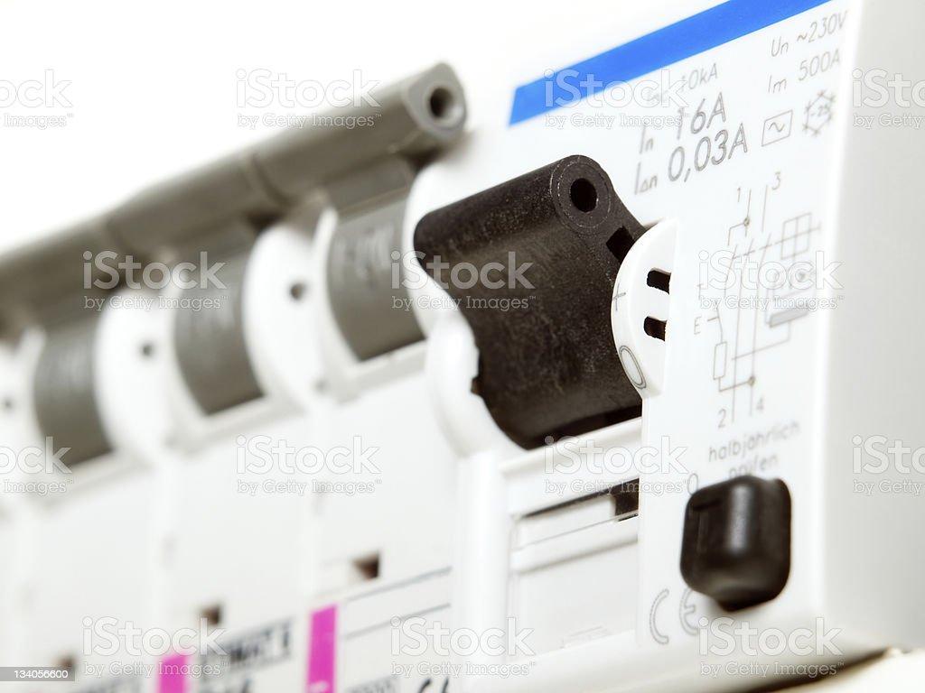 Electric fuses stock photo