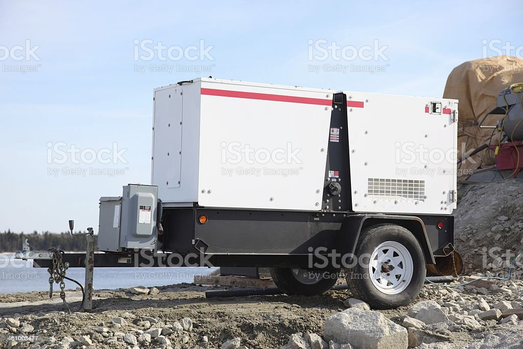 Electric generator stock photo