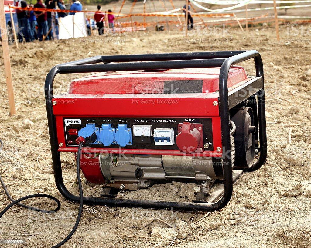 Electric generator stock photo