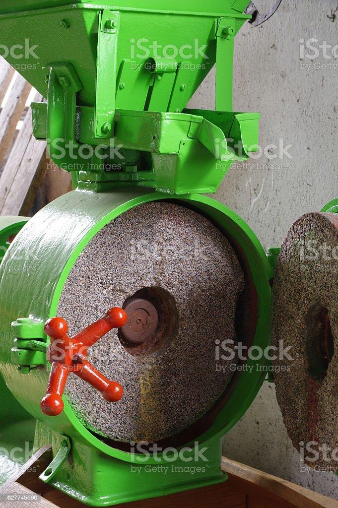 electric grain mill small portable stock photo