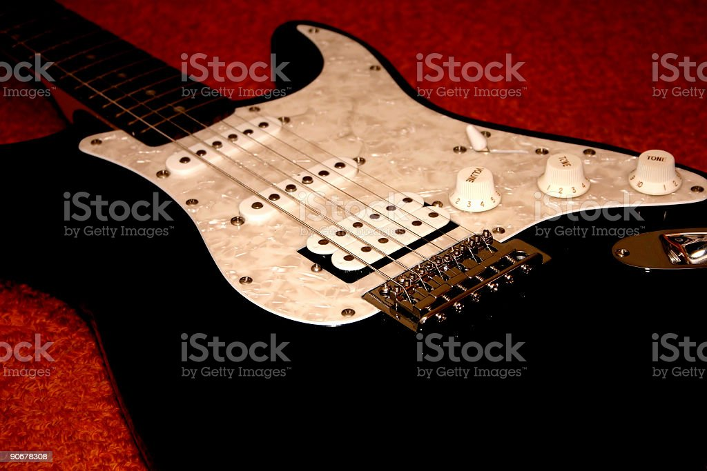 electric guitar 2 stock photo
