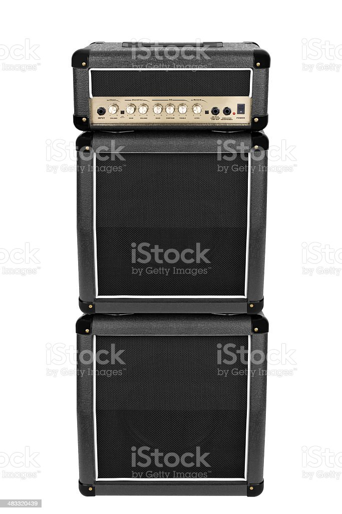Electric Guitar Amplifier Isolated royalty-free stock photo