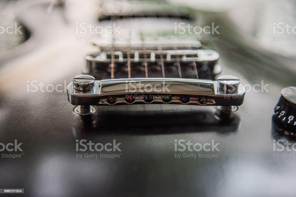 electric guitar Black, musical equipment stock photo