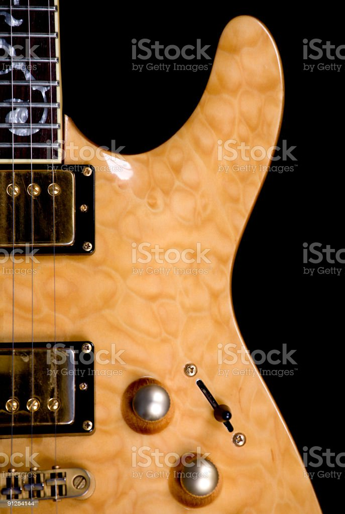 Electric Guitar Close Up royalty-free stock photo