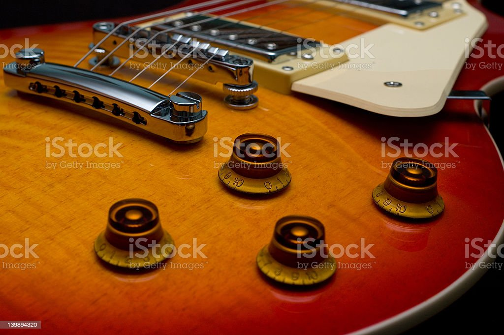 Electric Guitar Closeup royalty-free stock photo