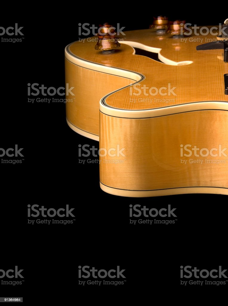Electric Guitar Contours royalty-free stock photo