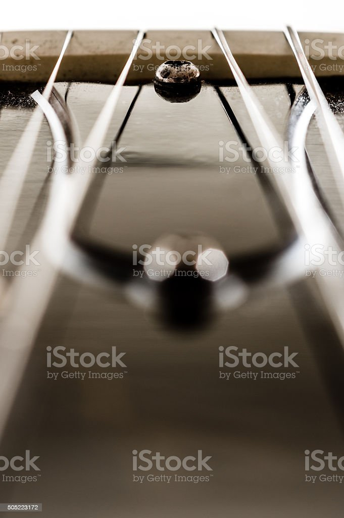 Electric guitar dectail stock photo