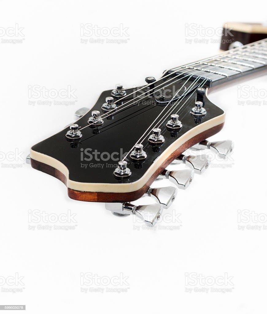 Electric Guitar Head stock photo