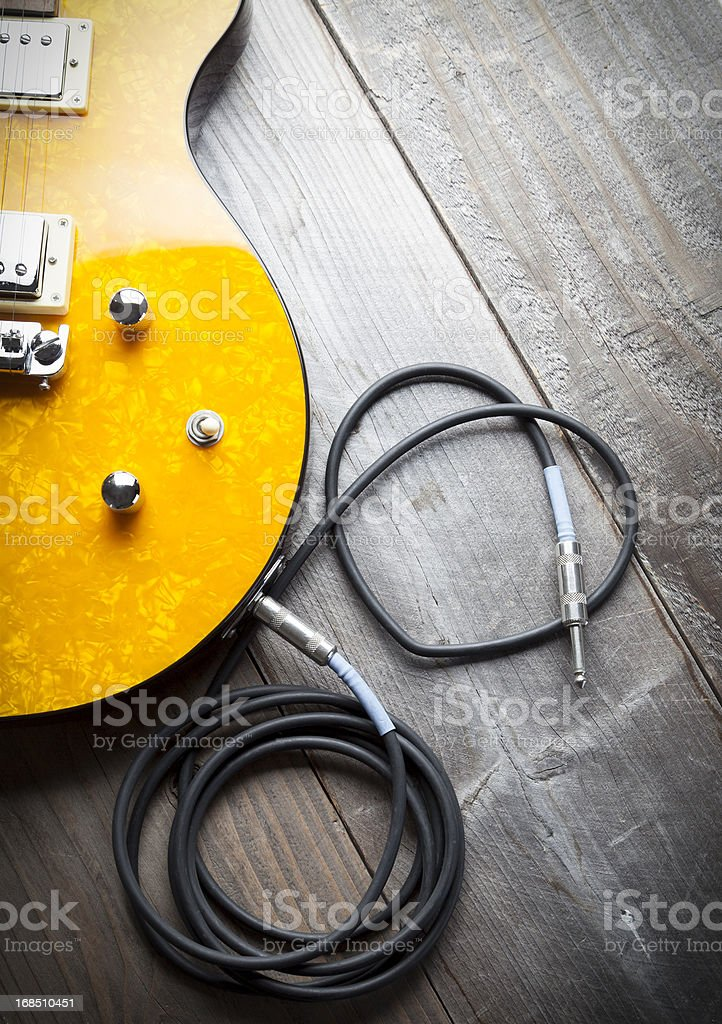 Electric Guitar Heart royalty-free stock photo