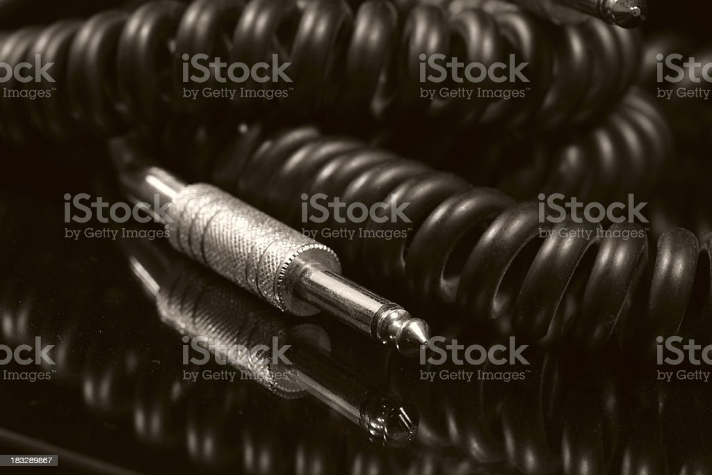 Electric guitar lead stock photo