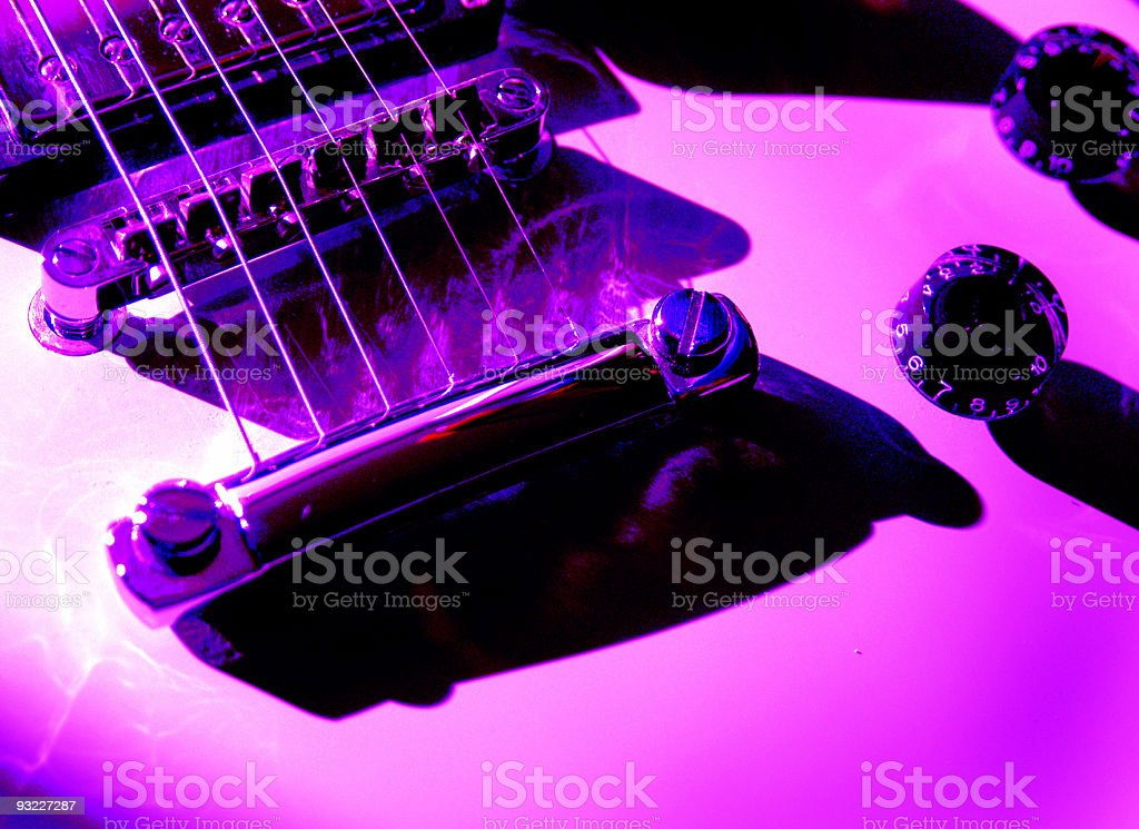 Electric Guitar Pink Tones stock photo