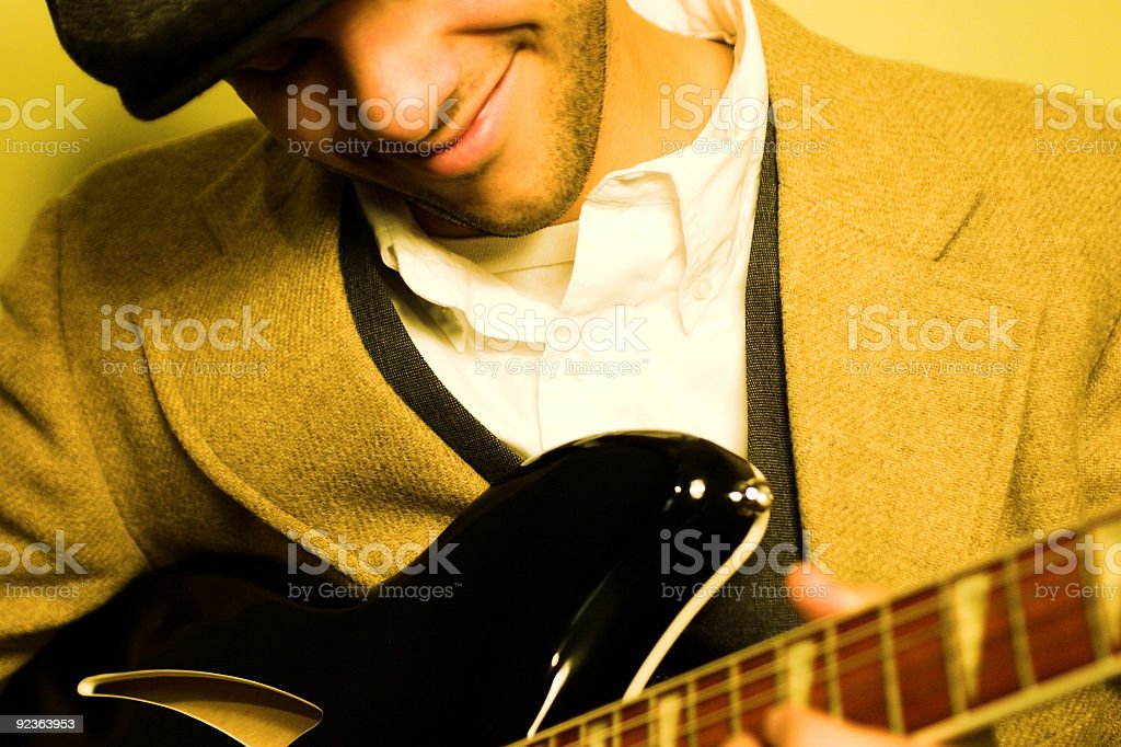 Electric Guitar Player royalty-free stock photo