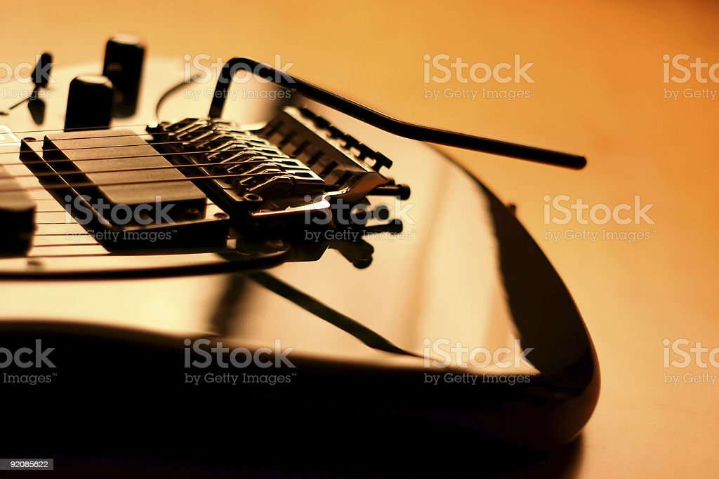 Electric guitar - serie (beautiful details) royalty-free stock photo