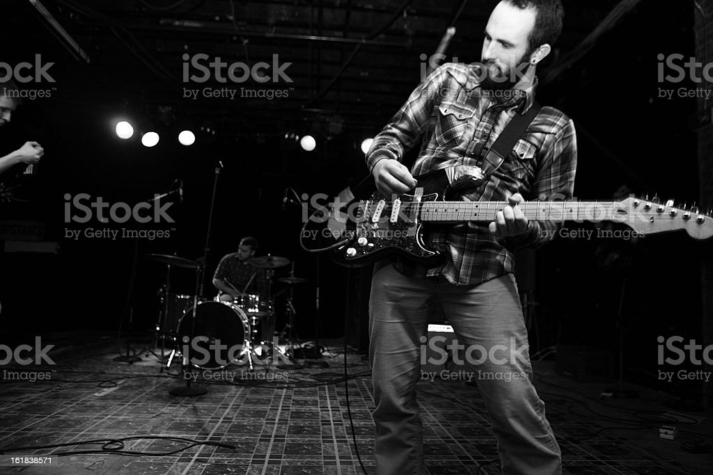 Electric Guitarist Playing A Show. royalty-free stock photo