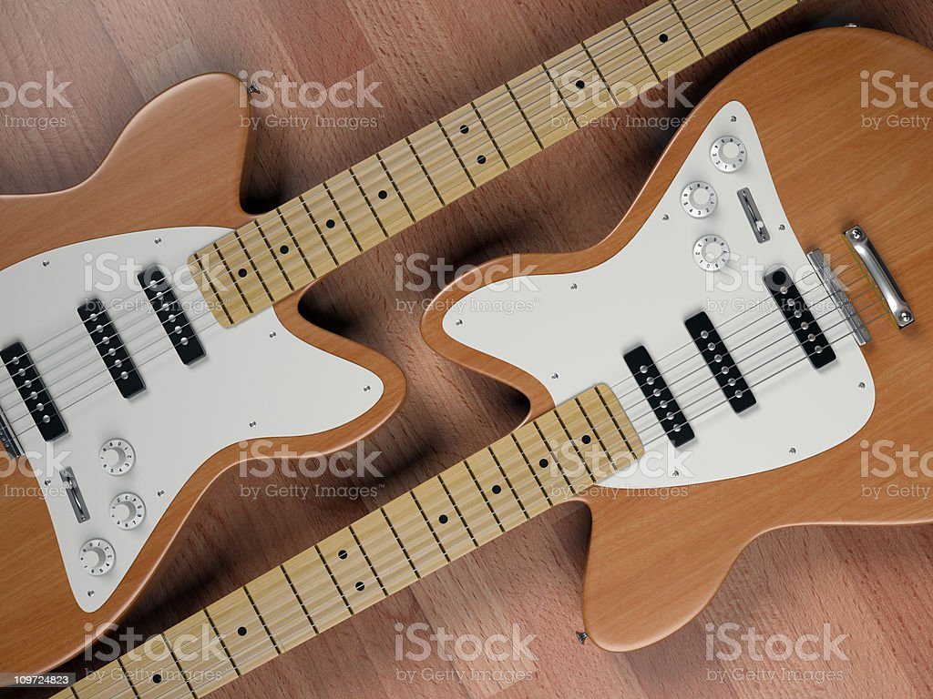 Electric Guitars royalty-free stock photo