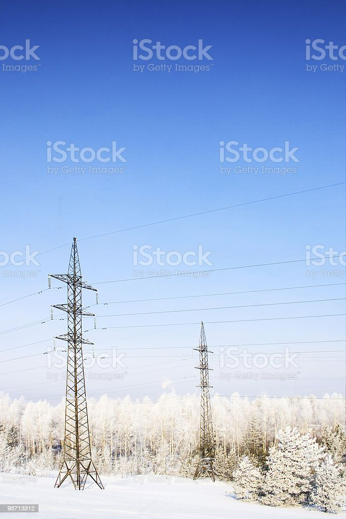 Electric mains stock photo