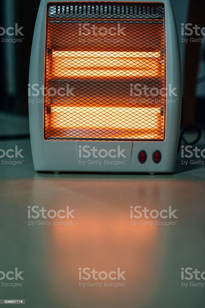 Electric heater stock photo