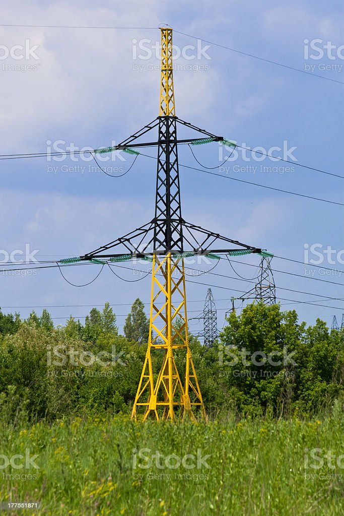 Electric high voltage post royalty-free stock photo
