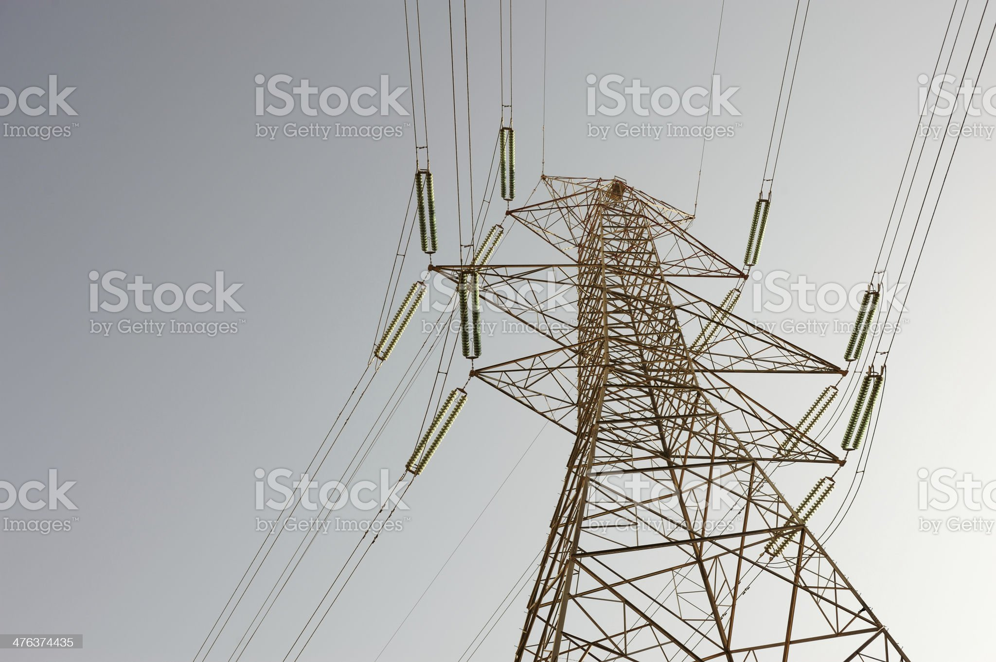 electric high voltage pylon royalty-free stock photo