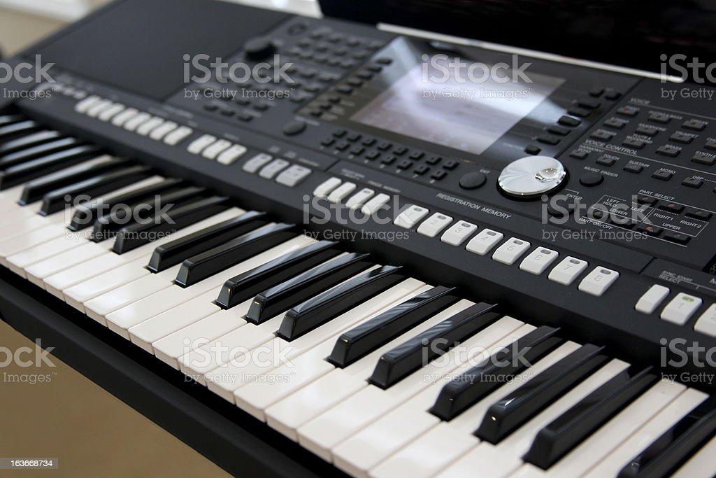 Electric Keyboard stock photo