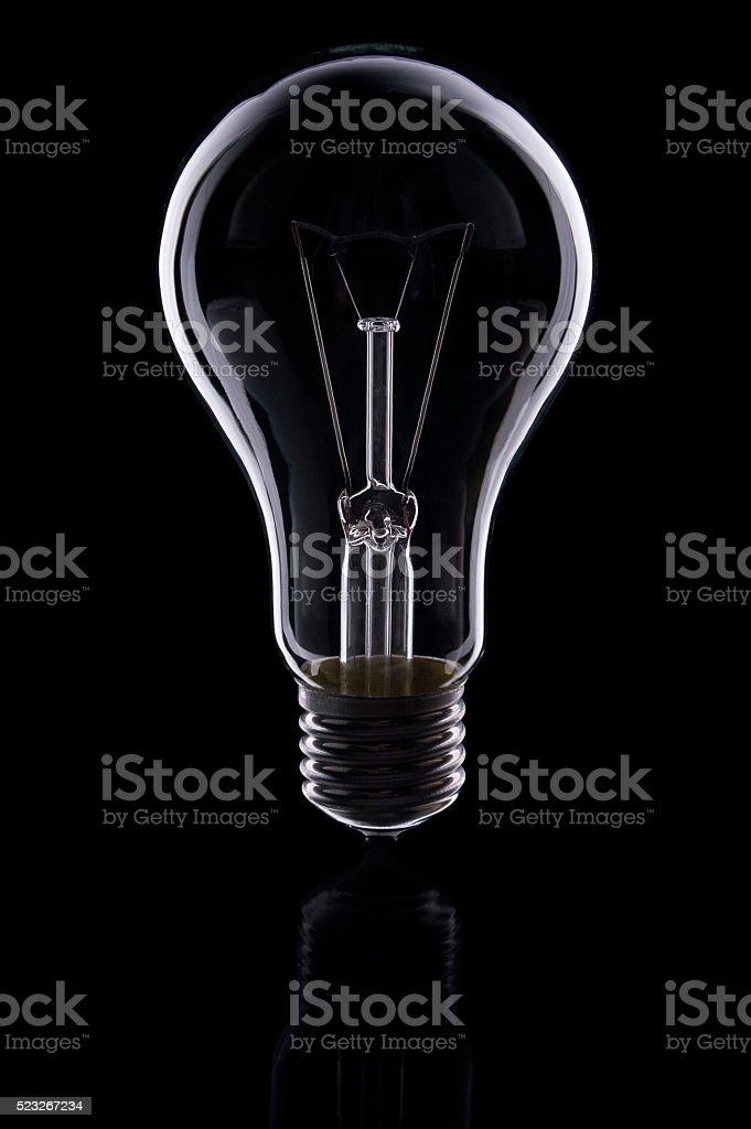 elektro Lampe auf schwarzem Hintergrund Lizenzfreies stock-foto