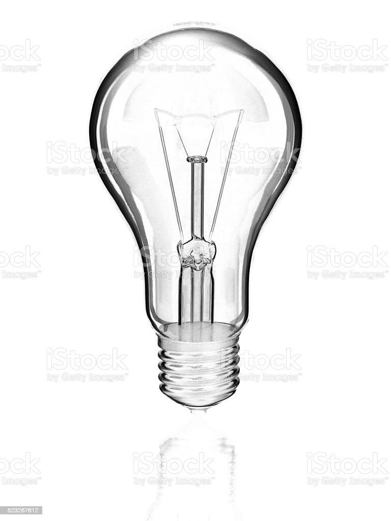 elektrische Lampe auf weißem Hintergrund Lizenzfreies stock-foto