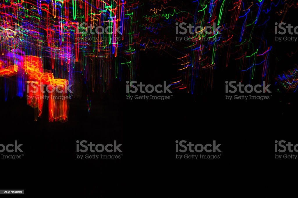 Electric light patterns stock photo