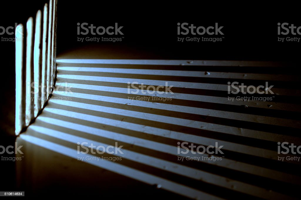 Electric light shafts stock photo