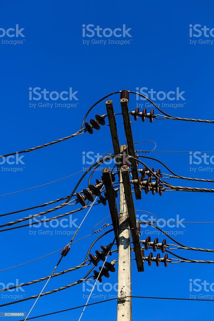 Elektrische Linie Lizenzfreies stock-foto