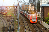 Electric locomotive, railway