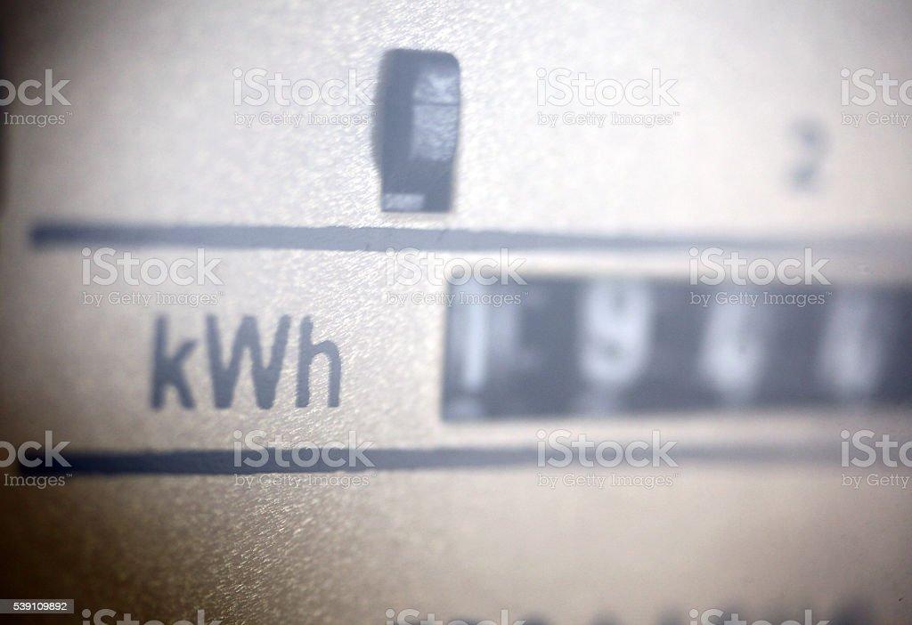 Electric Meter stock photo