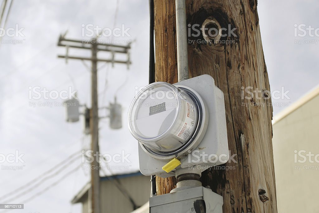 Electric Meter royalty-free stock photo